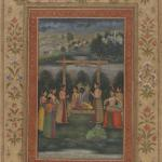 """Raga Hindol"" Part of a Ragamala, 18th century, Mughal, Yale University Art Gallery"