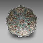 Bowl with a Scalloped Edge, Mina'i ware, late 12th–early 13th century, Seljuk, Yale University Art Gallery
