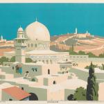 Print made by Frank Newbould, Jerusalem, 1929, Yale Center for British Art