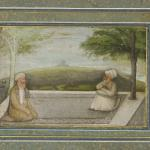 Mian Mir and Mulla Shah on a Terrace, c. 1630s, Mughal, Yale University Art Gallery